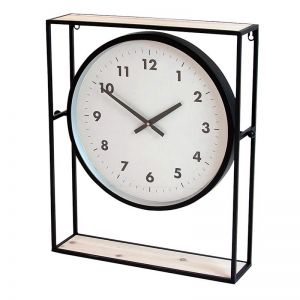 Elan Timber & Iron Mantle Clock | Black