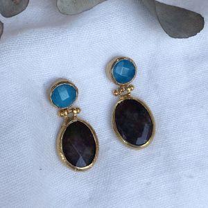 Elara Double Drop Earrings