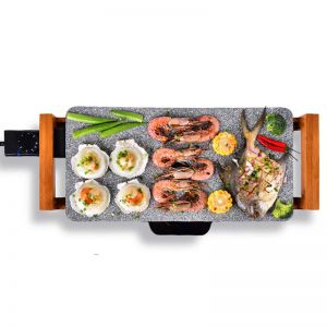 Electric Ceramic BBQ Grill | Non-Stick Surface | Indoor & Outdoor | Stone