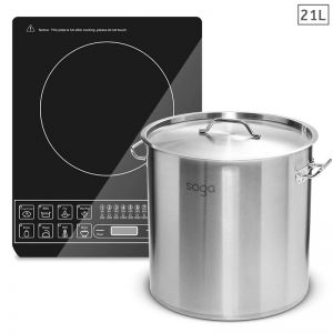Electric Smart Induction Cooktop | 21L Stainless Steel Stockpot
