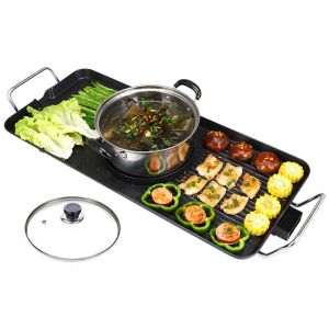 Electric Steamboat Asian Hot Pot Soup Maker Fondue Teppanyaki Hotpot Grill