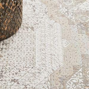 Elegance Reflection Bamboo Silk & Viscose Blended Rug   Stone