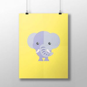 Elephant Poster   by Design by Mouse