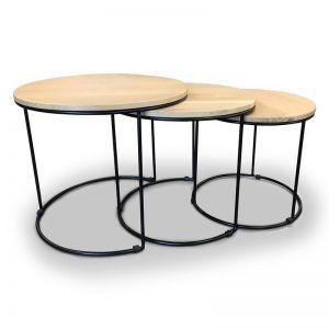 Eligio Nest Of 3 Tables 50Cm | Oak