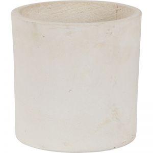Elina 24x26cm Concrete Planter | Milky White
