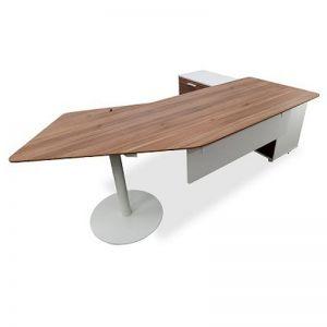 Elite Executive Office Desk Right Return | Walnut | 2.52m