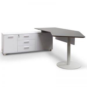 Elite Executive Office Desk with Left Return | Black