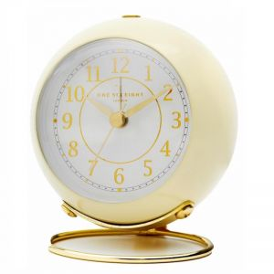 Elizabeth Alarm Clock | No Tick | Soft Yellow