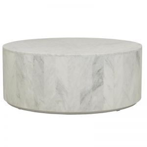 Elle Block Round Marble Coffee Table