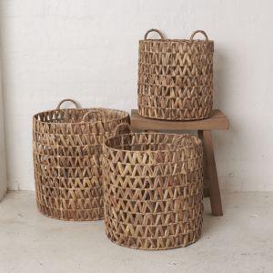 Ellya Natural Waterhyacinth Basket l Pre Order