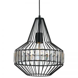 Elmas 32cm Pendant Light | Black | Schots