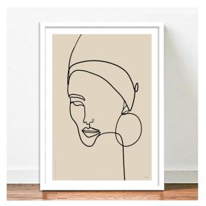 Elsa Beige Art Print | A2