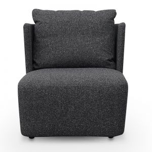 Elvina Fabric Armchair | Dark Grey