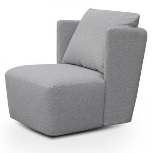Elvina Fabric Armchair | Light Grey