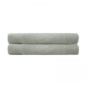 Elvire Bath Sheet 2 Pack Sage