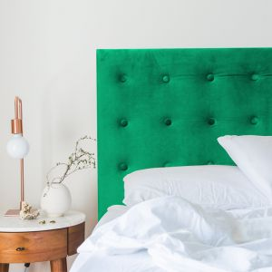 Emerald Green Velvet Buttoned Bedhead | All Sizes | Custom Made by Martini Furniture