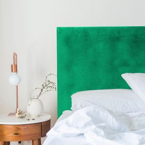 Emerald Green Velvet Plain Upholstered Bedhead | All Sizes | Custom Made by Martini Furniture