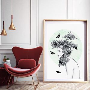 Emerald | Lost Sisters Collection | Limited Edition Framed Print and Unframed by 4 The Love of Paris