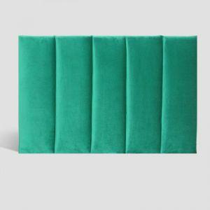 Emerald Velvet Panelled Upholstered Bedhead | King Single