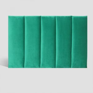 Emerald Velvet Panelled Upholstered Bedhead | King Single | Custom Made by Martini Furniture