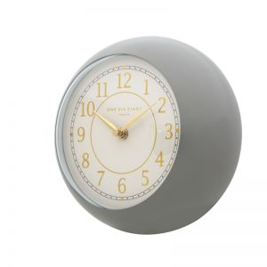Emily Wall Clock | 21cm | Metal | Grey