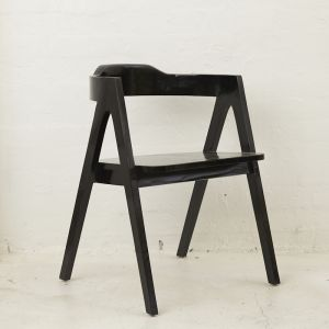 Emir Angled Dining Armchair Black | Custom Made