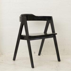 Emir Angled Dining Armchair l Custom Made | Black