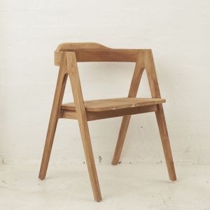Emir Angled Dining Armchair | Natural