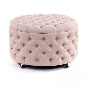 Emma Storage Ottoman Large | Dusty Pink | by Black Mango