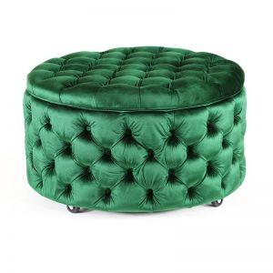 Emma Storage Ottoman Large | Emerald | by Black Mango