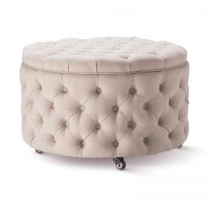 Emma Storage Ottoman Large | Latte | by Black Mango