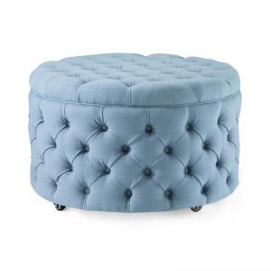 Emma Storage Ottoman Large | Teal | by Black Mango