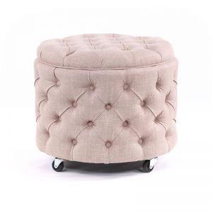 Emma Storage Ottoman Small | Dusty Pink | by Black Mango