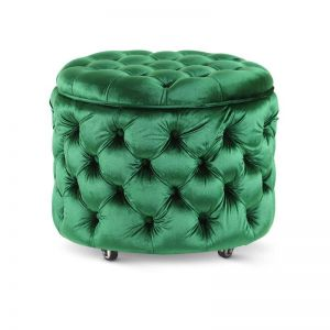 Emma Storage Ottoman Small | Emerald | by Black Mango
