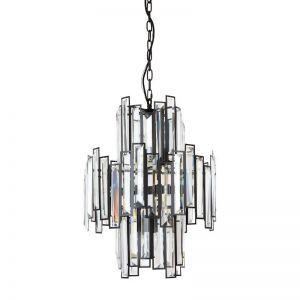 Empire 10 Light Chandelier in Black | By Beacon Lighting