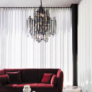 Empire 12 Light Chandelier | Black