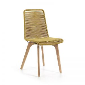 Endo Patio Dining Chair | Mustard | CLU Living