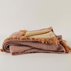 Enes Bed Cover | Tobacco/Honey