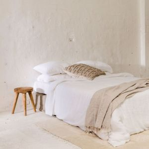 Enes Bed Cover | White