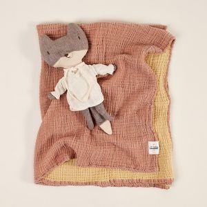 Enes Crinkle Baby Blanket   Tobacco/Honey