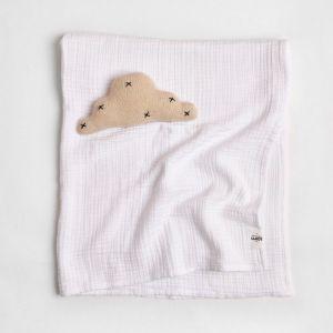 Enes Crinkle Baby Blanket   White
