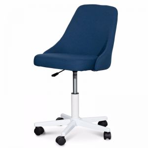 Ernesto Space Fabric Office Chair   Blue and White