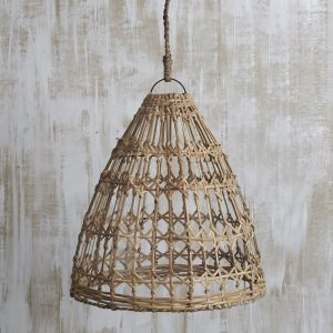 Esher Handwoven Flat Rattan Natural Light Shade | Pre Order