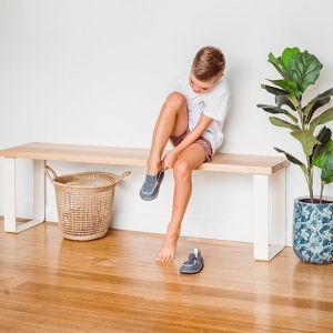 Estelle Bench Seat | Tasmanian Oak | by Dare by Design | Black Base