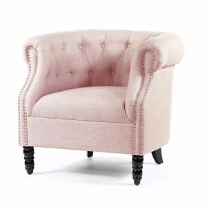 Esther Tub Chair | Dusty Pink | by Black Mango