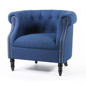 Esther Tub Chair | Navy | by Black Mango