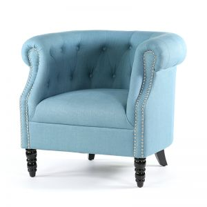 Esther Tub Chair | Teal | by Black Mango