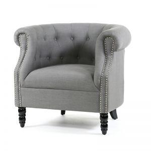 Esther Tub Chair | Wolf Grey | by Black Mango