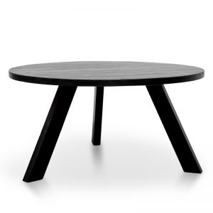 Ethan Round Dining Table | Full Black