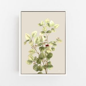 Eucalyptus Native Living Art 3 in Ivory Fine Art Print by Pick a Pear | Canvas Wall Art